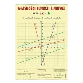 Własności funkcji liniowej - plansza dydaktyczna
