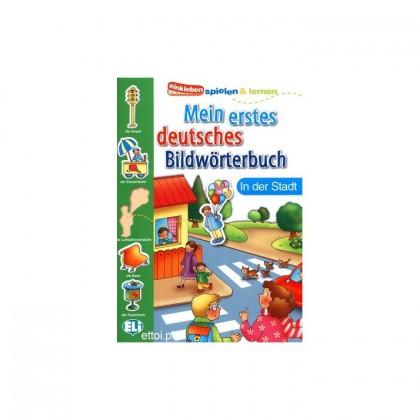 Mein erstes deutsches Bildwörterbuch - in der Stadt słownik do nauki niemieckiego