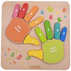 Edukacyjna tabliczka - liczenie na palcach