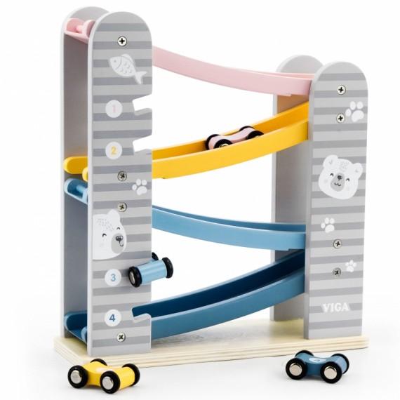 Kolorowa zjeżdżalnia dla samochodzików PolarB