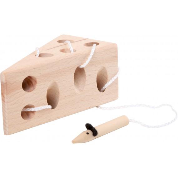 Przeplatanka drewniana ser i myszka