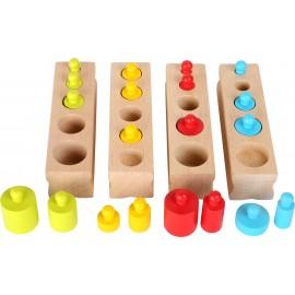 Cylindry Montessori - bloki z cylindrami