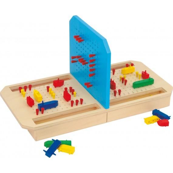 Gra w statki - drewniana gra planszowa