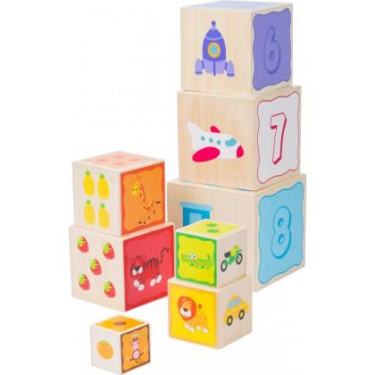 Piramida edukacyjna drewniana - cyfry