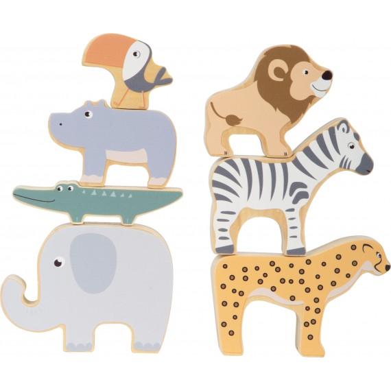 Drewniane zwierzątka safari