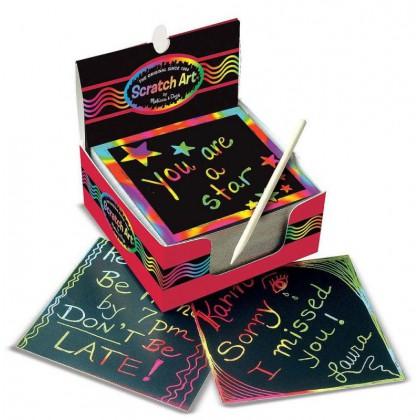 Karteczki do zdrapywania Scratch Art Melissa