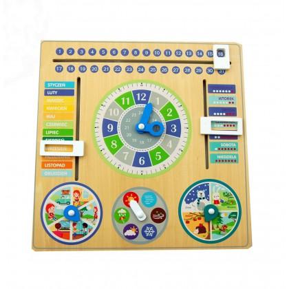 Drewniany kalendarz - tablica aktywności