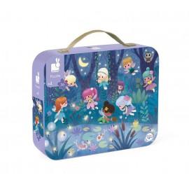 Puzzle w walizce - wróżki i lilie