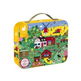 Puzzle w walizce - farma