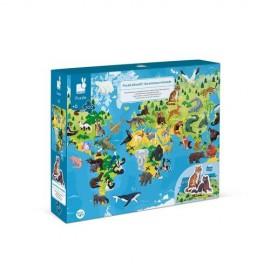 Puzzle z figurkami 3D - zagrożone gatunki