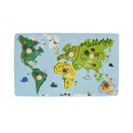 Układanka z uchwytami - mapa świata