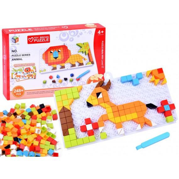 Edukacyjna układanka mozaika - zwierzaki