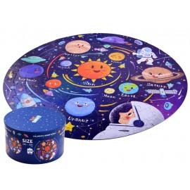 Okrągłe puzzle w tubie - kosmos