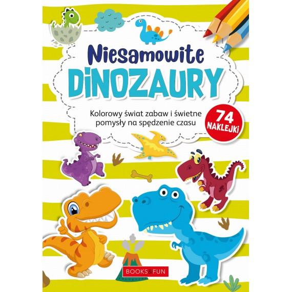Kolorowanka z naklejkami - dinozaury