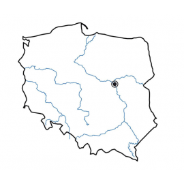 Nakładka magnetyczna na tablicę - kontur Polski