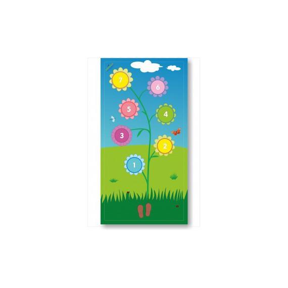 Mata edukacyjna - kolorowe kwiaty